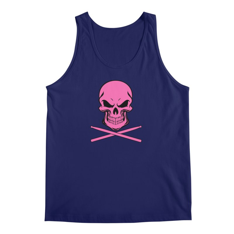 Drumskull (Bonesy Hot Pink) Men's Tank by Drum Geek Online Shop