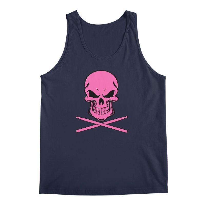 Drumskull (Bonesy Hot Pink) Men's Regular Tank by Drum Geek Online Shop