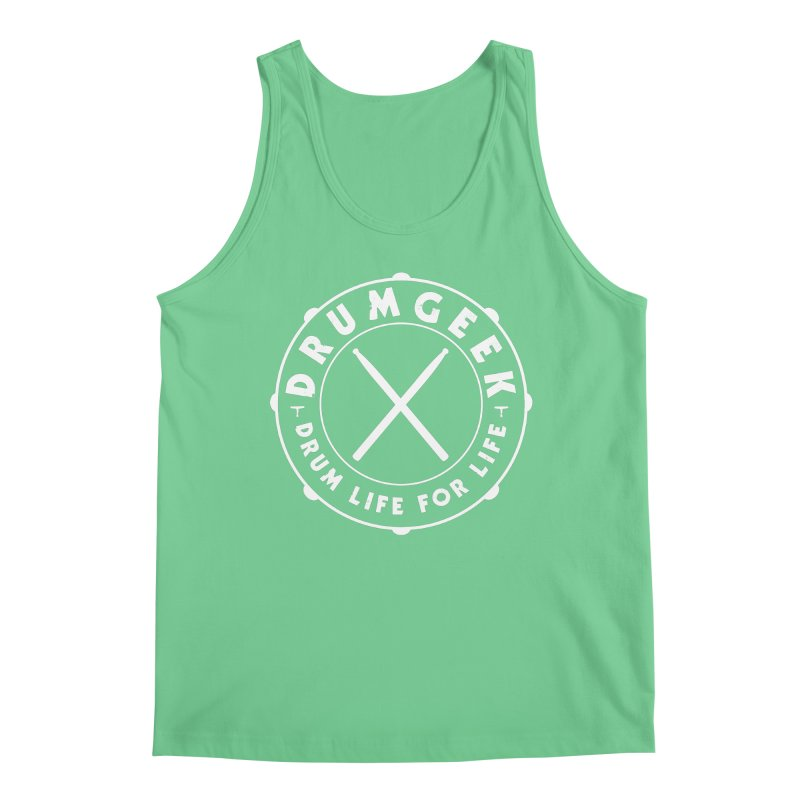 Drum Life For Life (Style 2) - White Logo Men's Tank by Drum Geek Online Shop