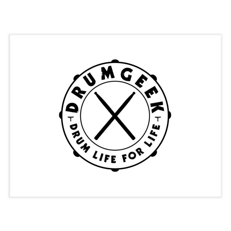 Drum Geek Alternate Logo (Black) Home Fine Art Print by Drum Geek Online Shop