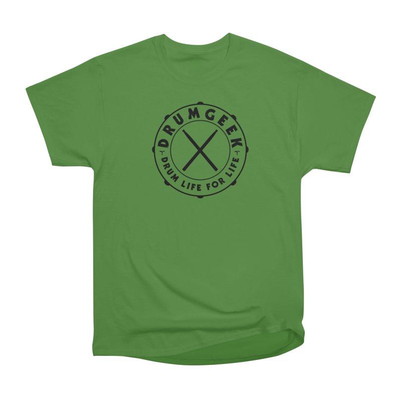 Drum Geek Alternate Logo (Black) in Men's Classic T-Shirt Leaf by Drum Geek Online Shop