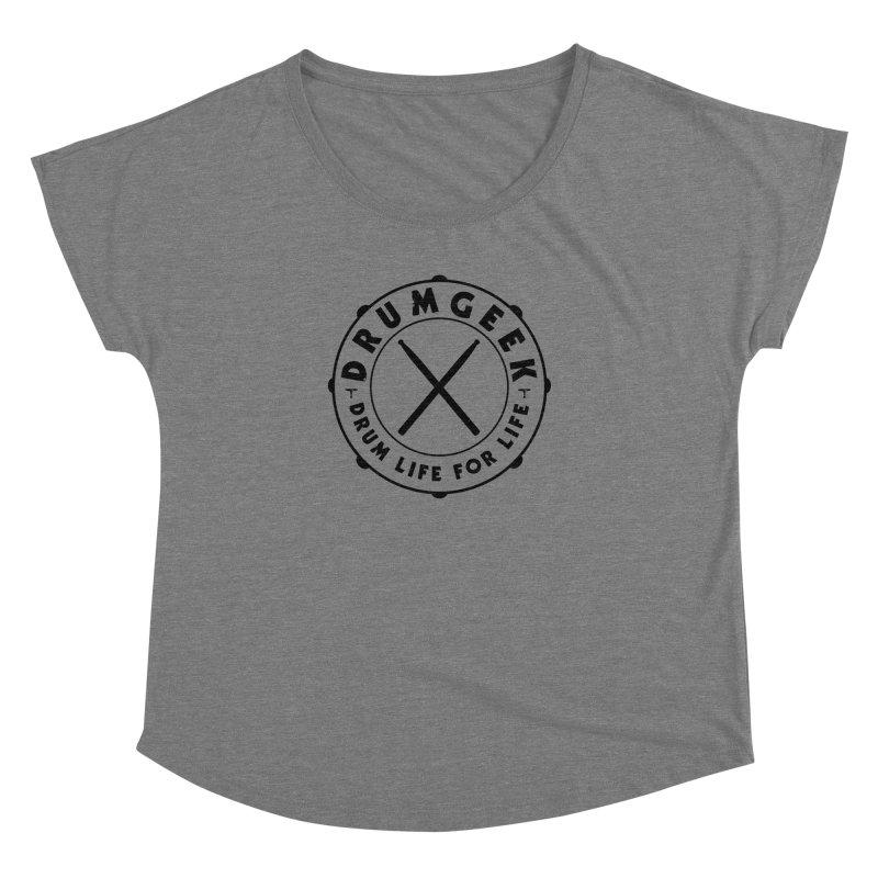 Drum Geek Alternate Logo (Black) Women's Scoop Neck by Drum Geek Online Shop