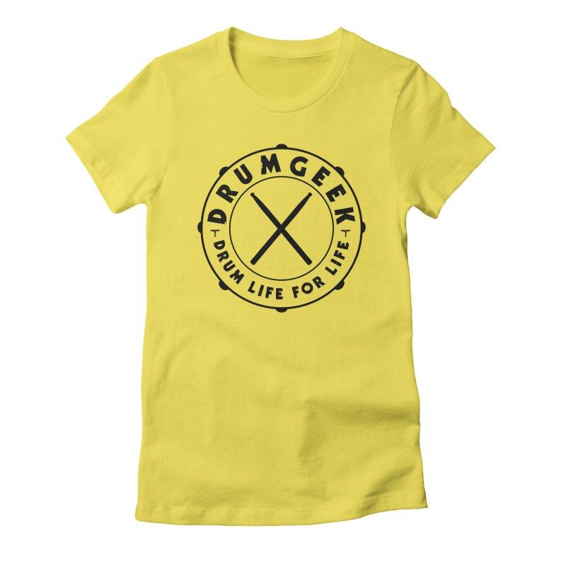 Drum Geek Alternate Logo (Black) Women's T-Shirt by Drum Geek Online Shop