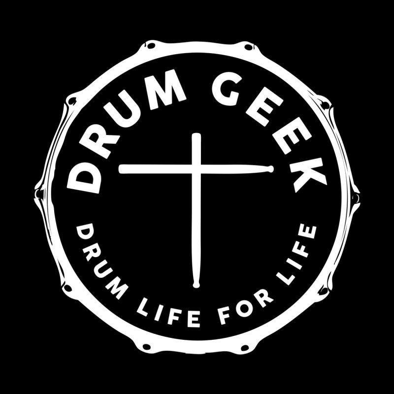Christian Drum Geek - White Logo Men's T-Shirt by Drum Geek Online Shop
