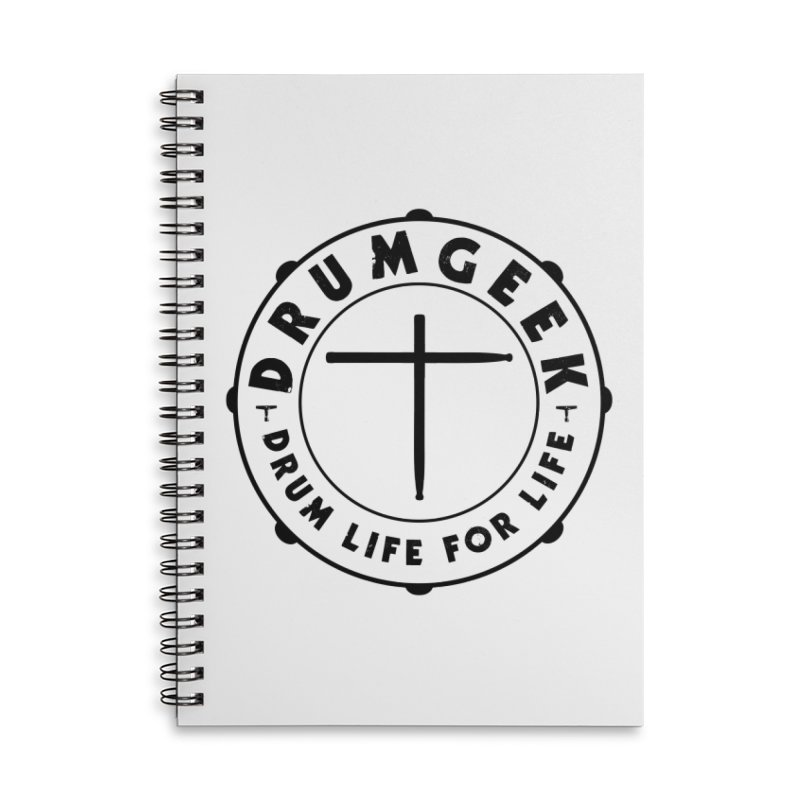 Christian Drum Geek (Black) Accessories Notebook by Drum Geek Online Shop