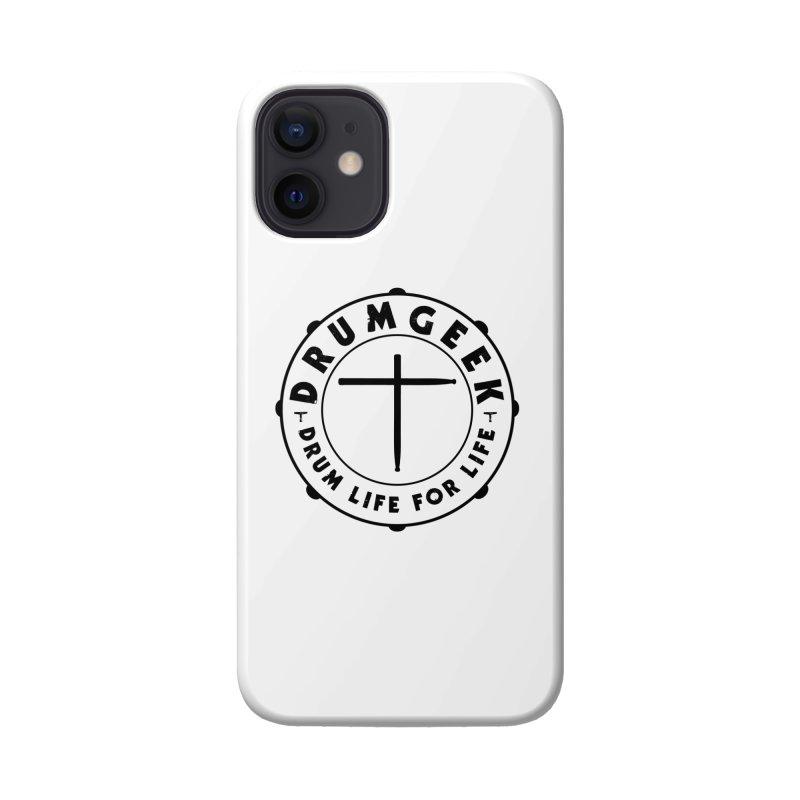 Christian Drum Geek (Style 1) - Black Logo Accessories Phone Case by Drum Geek Online Shop