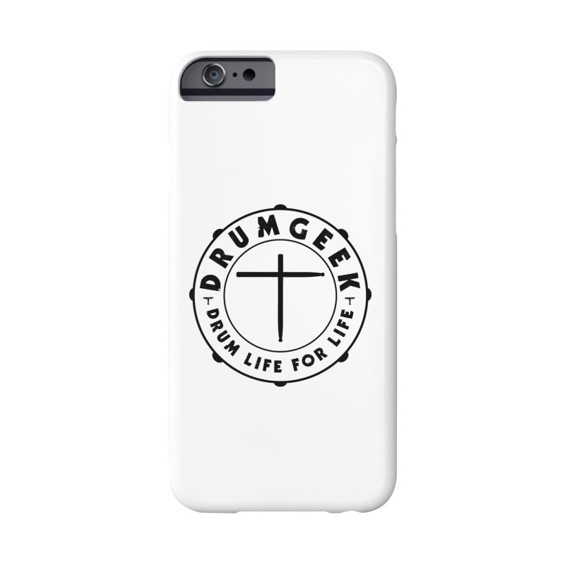 Christian Drum Geek (Style 1) - Black Logo Accessories Phone Case by Drum Geek Online Shop