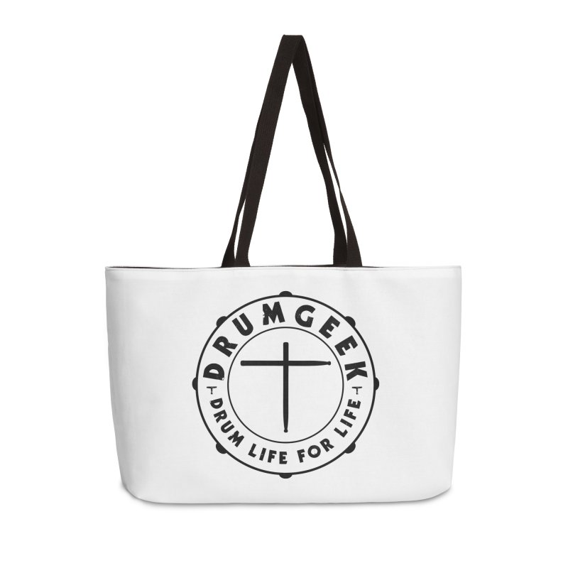 Christian Drum Geek (Style 1) - Black Logo Accessories Bag by Drum Geek Online Shop