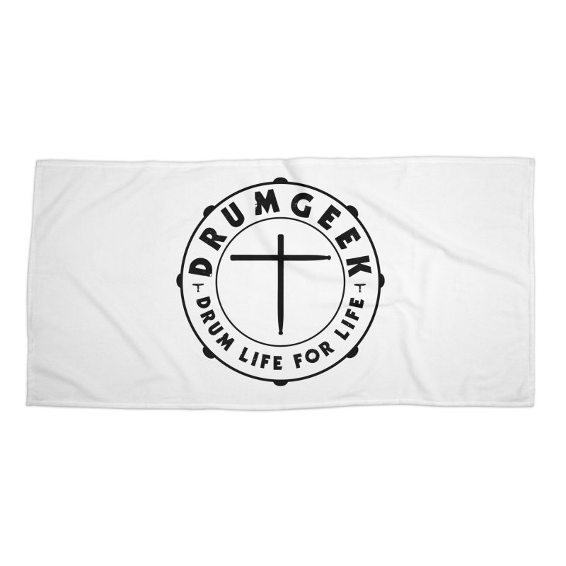 Christian Drum Geek (Black) Accessories Beach Towel by Drum Geek Online Shop
