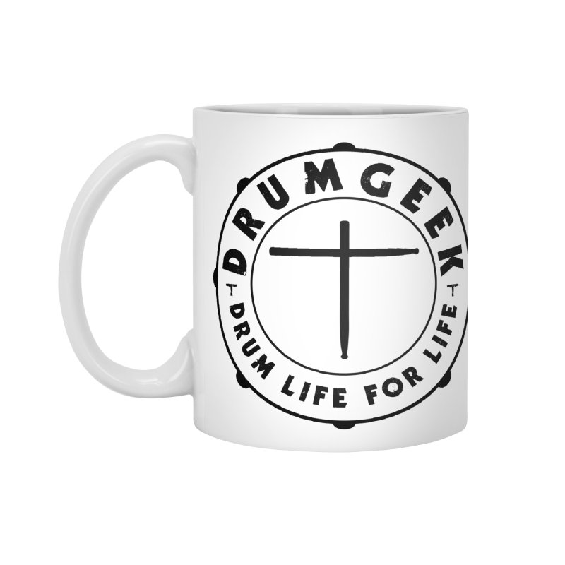 Christian Drum Geek (Black) Accessories Mug by Drum Geek Online Shop