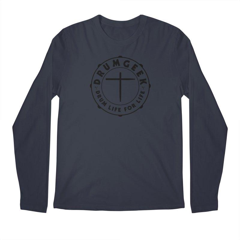 Christian Drum Geek (Black) Men's Longsleeve T-Shirt by Drum Geek Online Shop