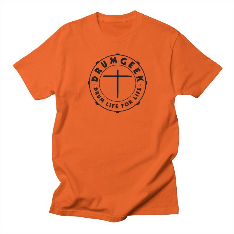 Christian Drum Geek (Black) Men's T-Shirt by Drum Geek Online Shop