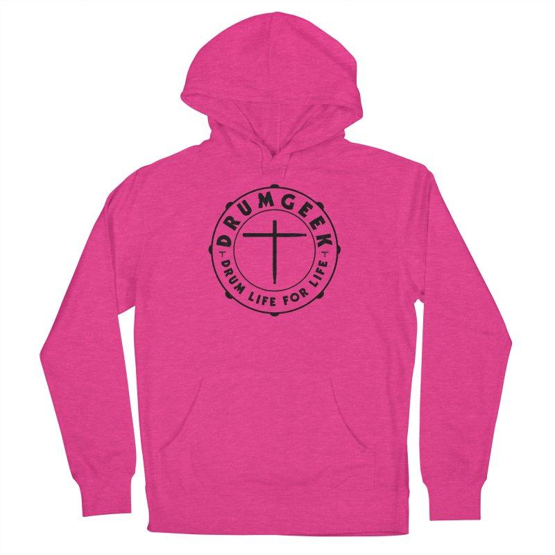 Christian Drum Geek (Style 1) - Black Logo Men's Pullover Hoody by Drum Geek Online Shop