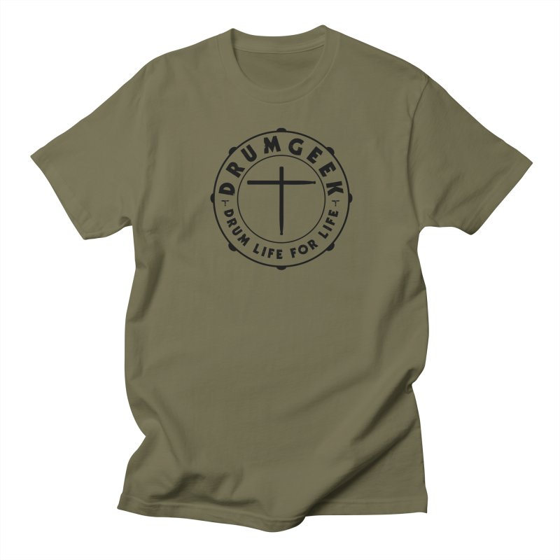 Christian Drum Geek (Style 1) - Black Logo Men's T-Shirt by Drum Geek Online Shop