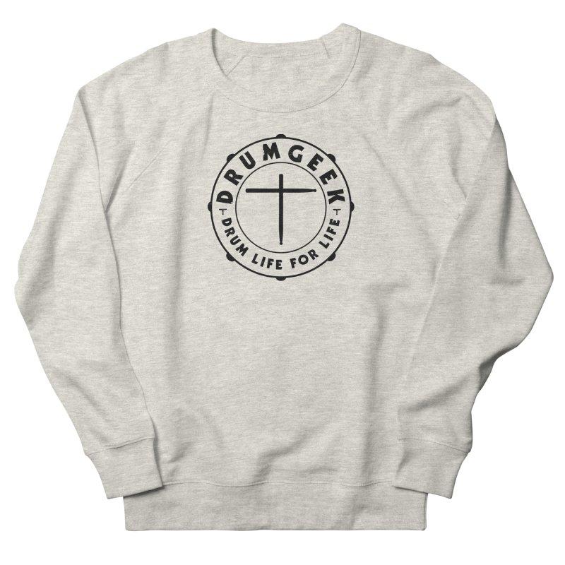 Christian Drum Geek (Style 1) - Black Logo Men's Sweatshirt by Drum Geek Online Shop