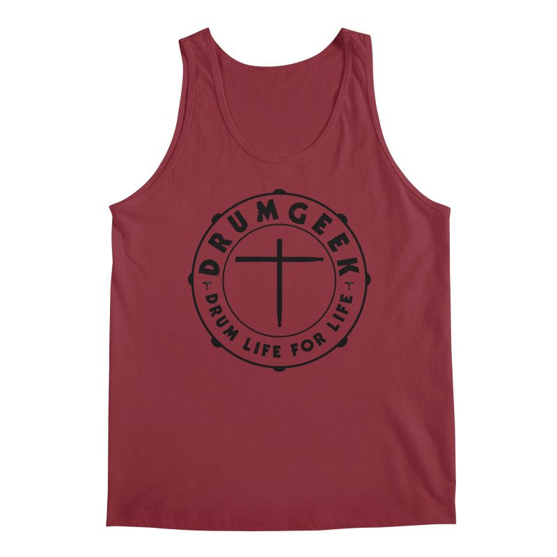 Christian Drum Geek (Style 1) - Black Logo Men's Tank by Drum Geek Online Shop