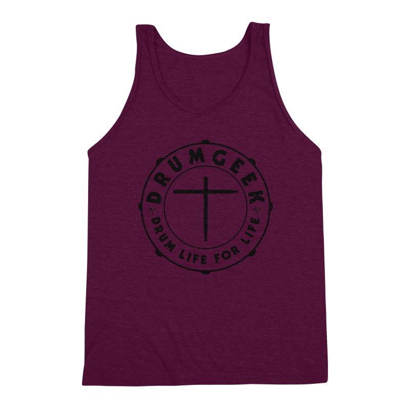 Christian Drum Geek (Style 1) - Black Logo Men's Tank by Drum Geek Online Shop