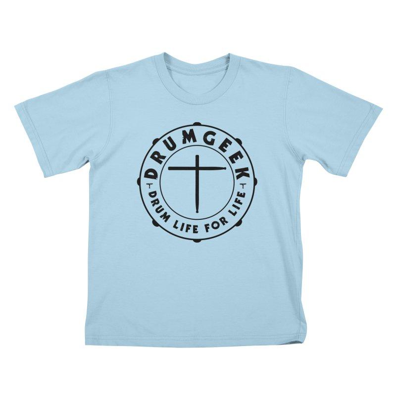 Christian Drum Geek (Black) Kids T-Shirt by Drum Geek Online Shop