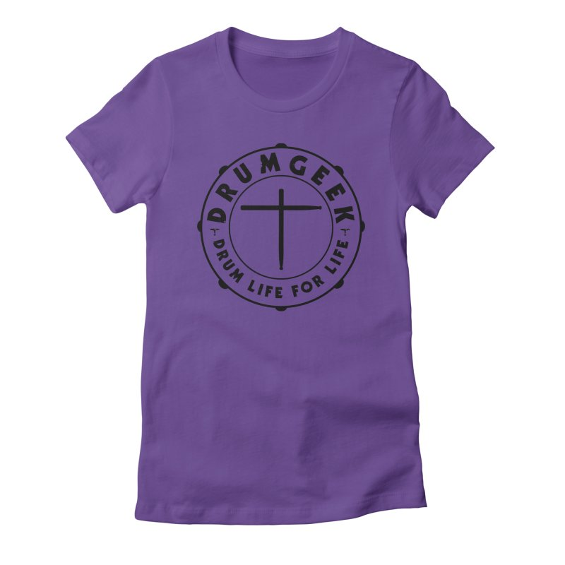 Christian Drum Geek (Style 1) - Black Logo Women's T-Shirt by Drum Geek Online Shop