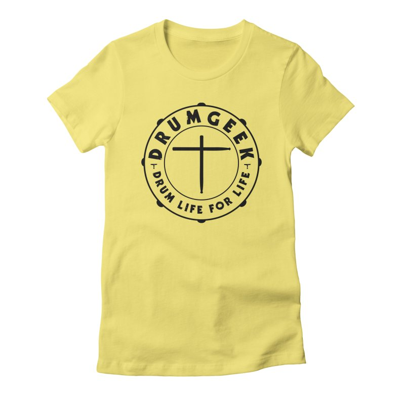 Christian Drum Geek (Style 1) - Black Logo Women's T-Shirt by Drum Geek Online Shop
