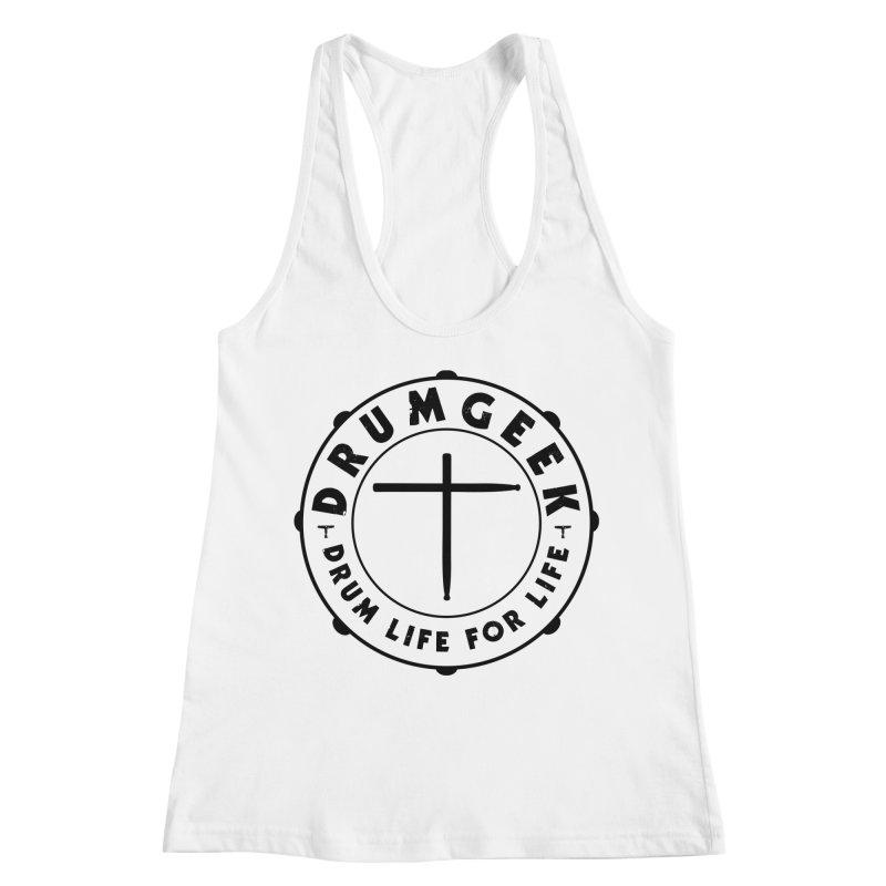 Christian Drum Geek (Style 1) - Black Logo Women's Tank by Drum Geek Online Shop