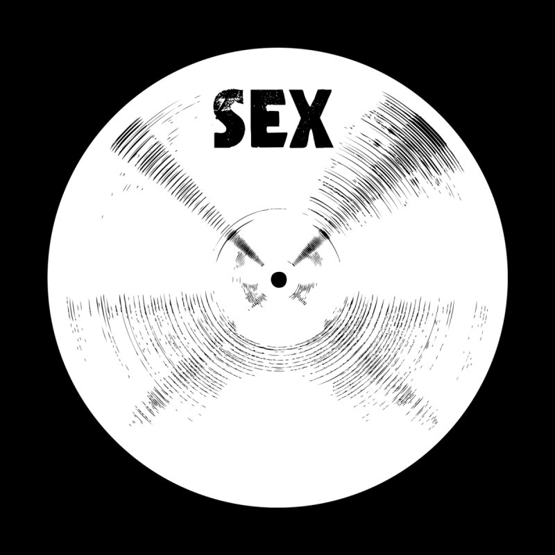 Sex Cymbal - White Logo Home Fine Art Print by Drum Geek Online Shop