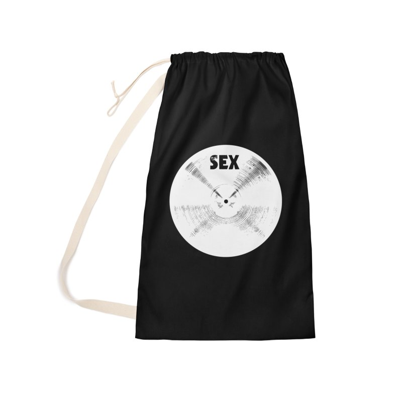 Sex Cymbal - White Logo Accessories Laundry Bag Bag by Drum Geek Online Shop