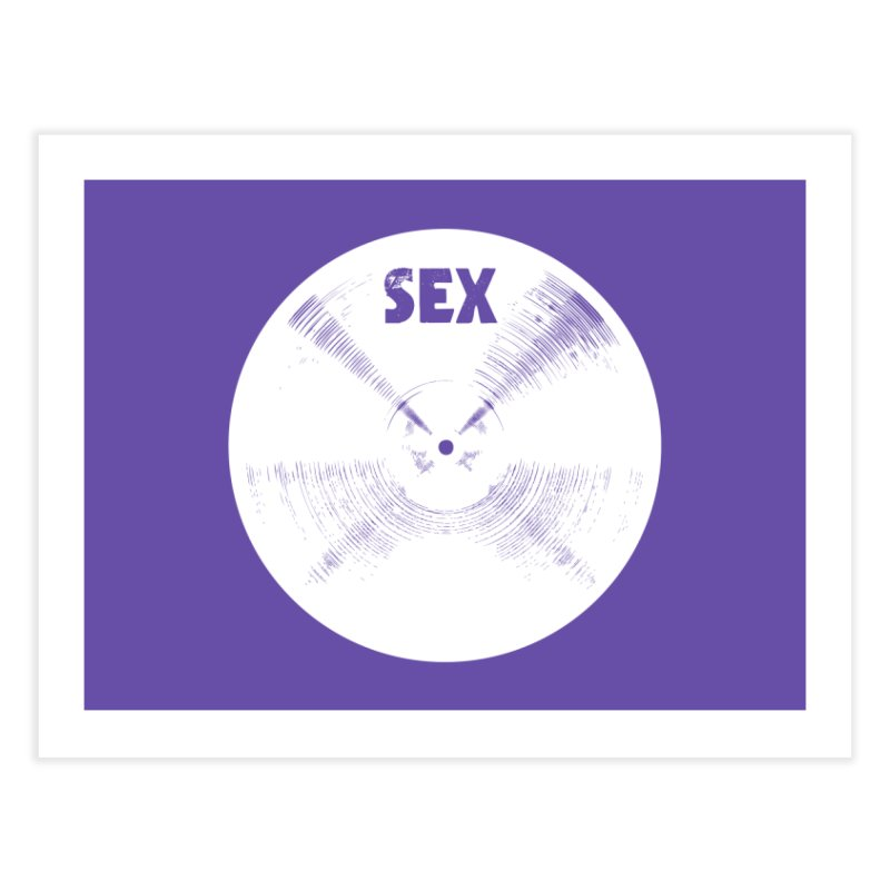 Sex Cymbal (White) Home Fine Art Print by Drum Geek Online Shop