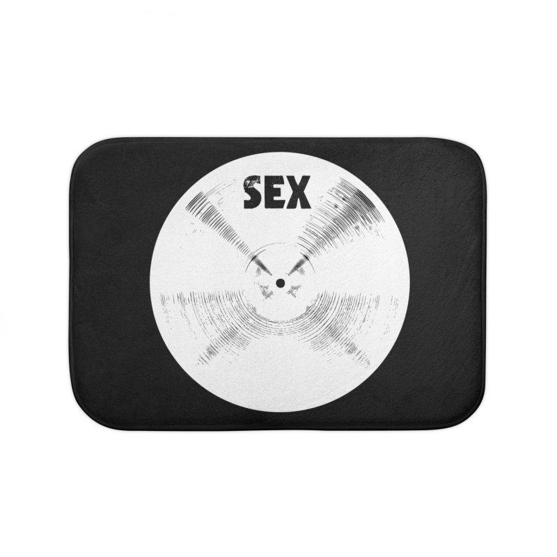 Sex Cymbal - White Logo Home Bath Mat by Drum Geek Online Shop