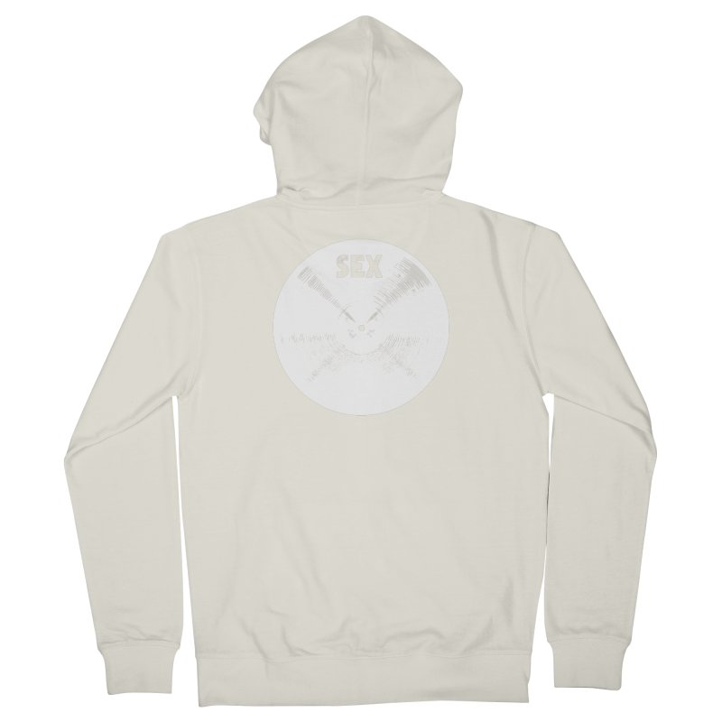 Sex Cymbal (White) Men's Zip-Up Hoody by Drum Geek Online Shop