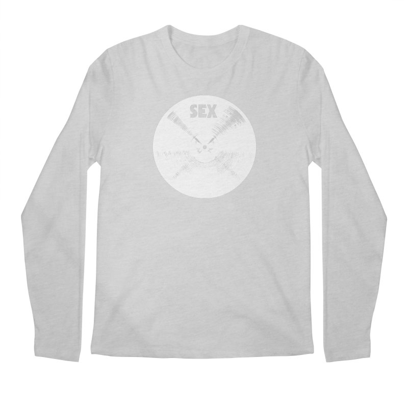 Sex Cymbal (White) Men's Regular Longsleeve T-Shirt by Drum Geek Online Shop