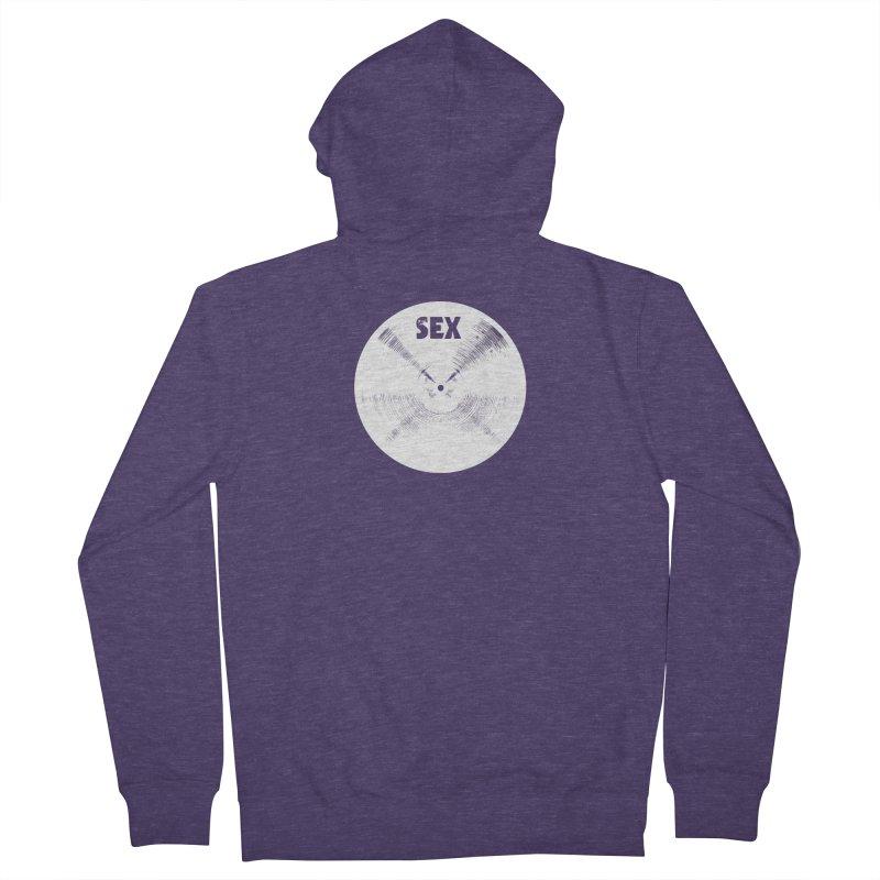 Sex Cymbal - White Logo Men's Zip-Up Hoody by Drum Geek Online Shop
