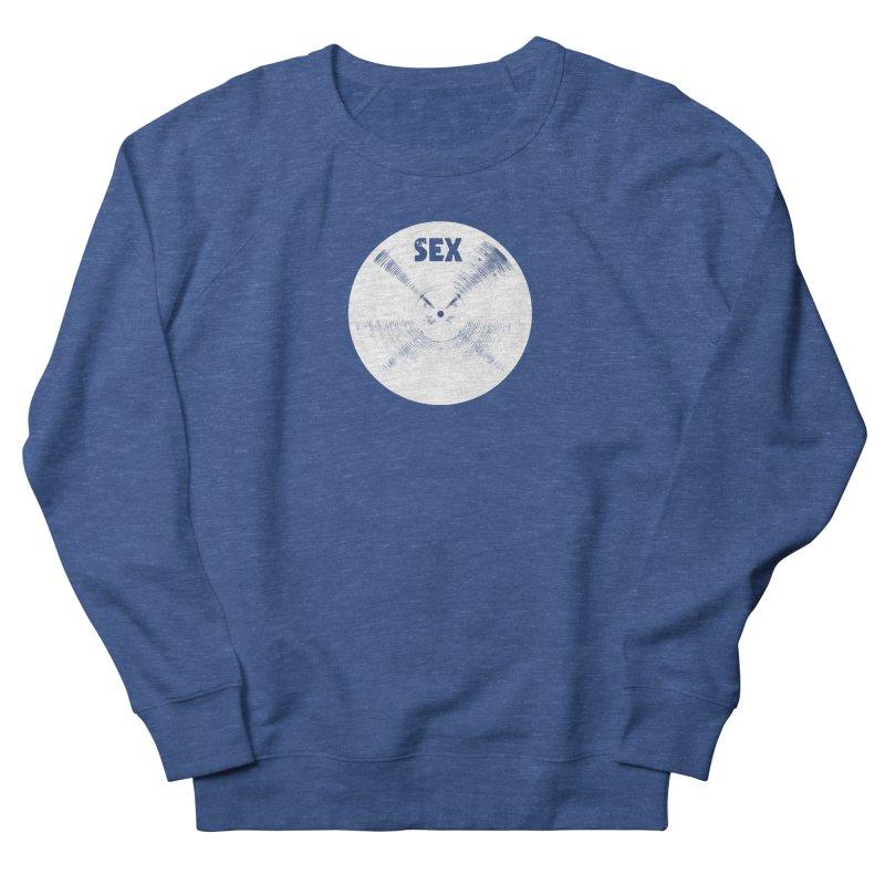 Sex Cymbal - White Logo Men's Sweatshirt by Drum Geek Online Shop