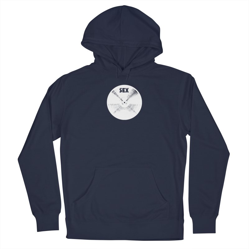 Sex Cymbal - White Logo Men's Pullover Hoody by Drum Geek Online Shop