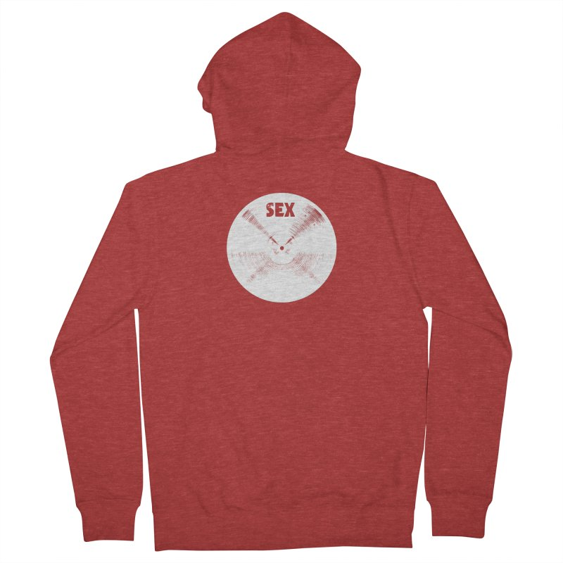 Sex Cymbal - White Logo Men's Zip-Up Hoody by Drum Geek Online Shop