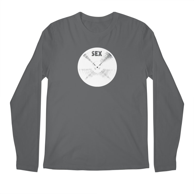Sex Cymbal - White Logo Men's Longsleeve T-Shirt by Drum Geek Online Shop