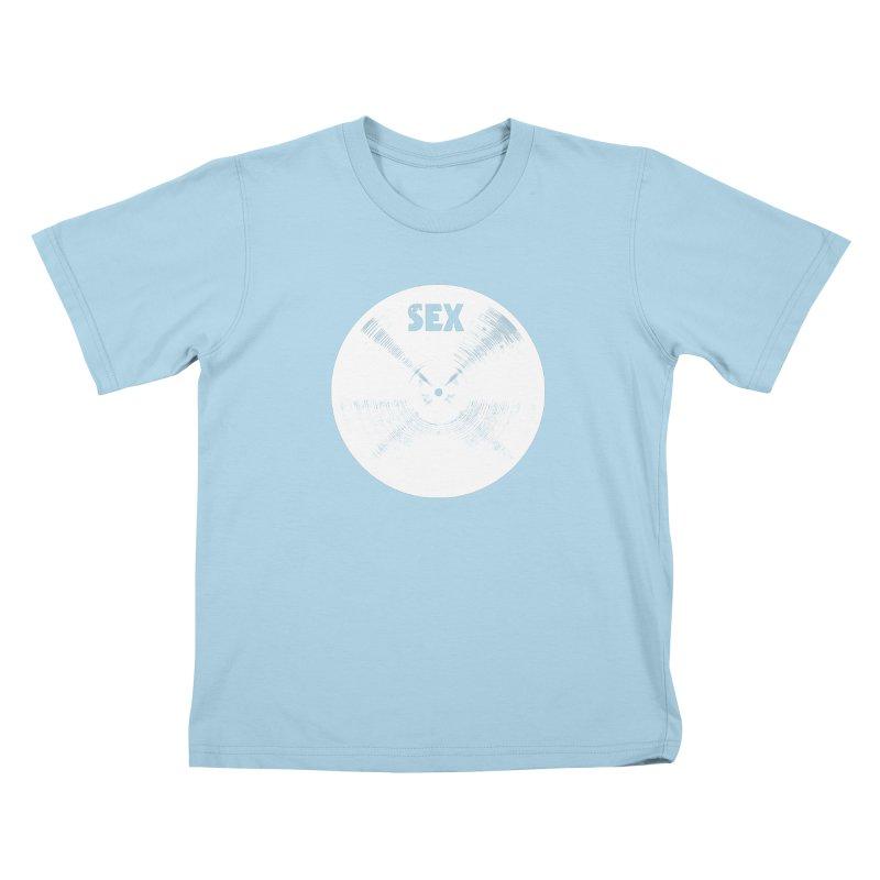Sex Cymbal - White Logo Kids T-Shirt by Drum Geek Online Shop