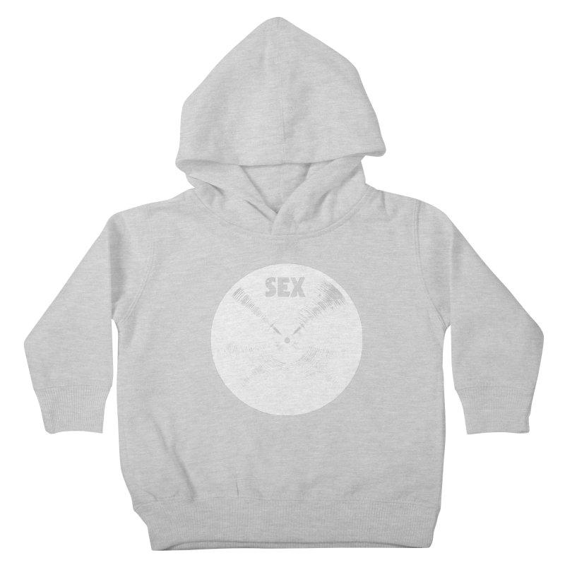 Sex Cymbal - White Logo Kids Toddler Pullover Hoody by Drum Geek Online Shop