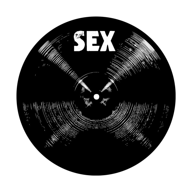 Sex Cymbal (Black) Men's T-Shirt by Drum Geek Online Shop