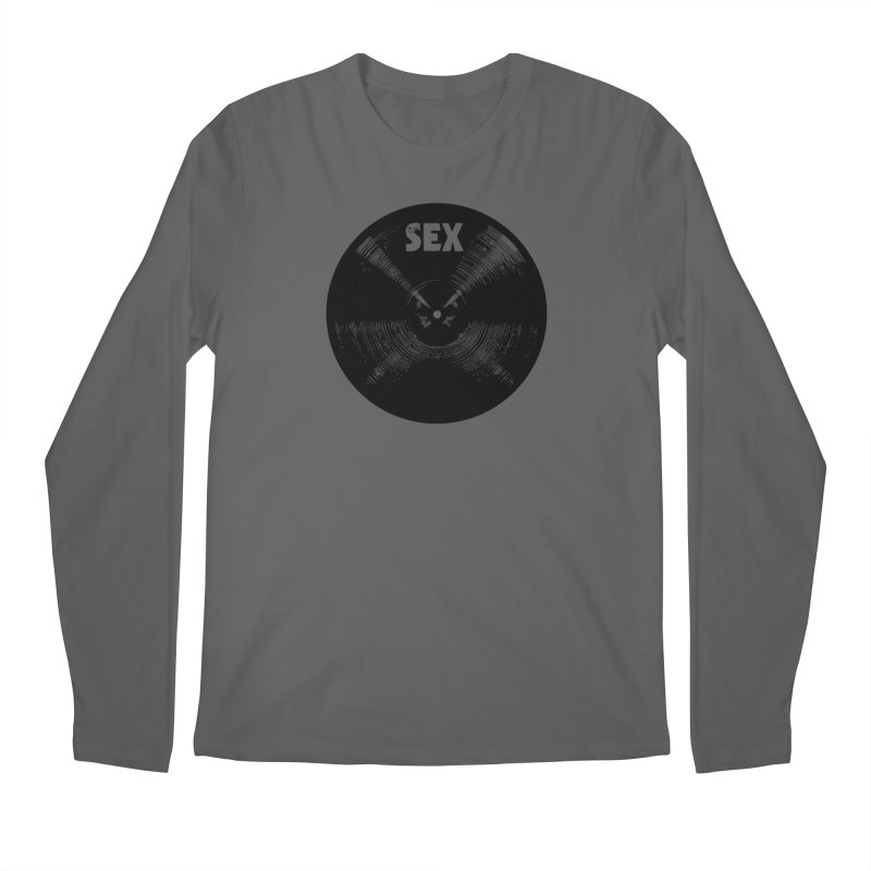 Sex Cymbal (Black) Men's Longsleeve T-Shirt by Drum Geek Online Shop