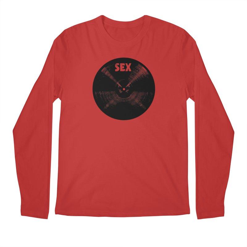 Sex Cymbal (Black) Men's Longsleeve T-Shirt by Drum Geek Online Shop