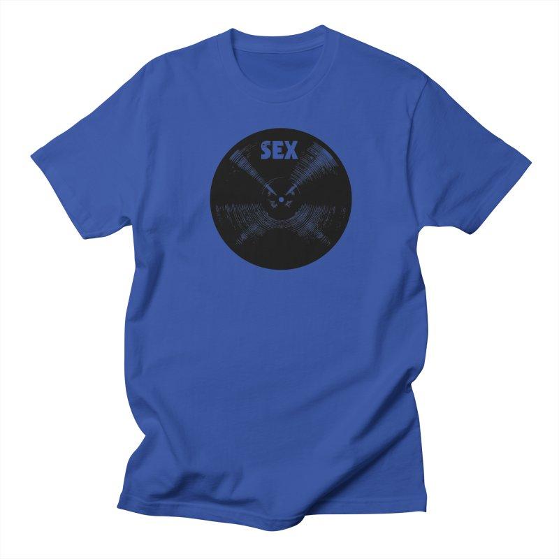 Sex Cymbal (Black) Men's T-Shirt by Drum Geek Online Shop