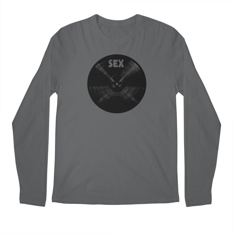 Sex Cymbal (Black) Men's Regular Longsleeve T-Shirt by Drum Geek Online Shop