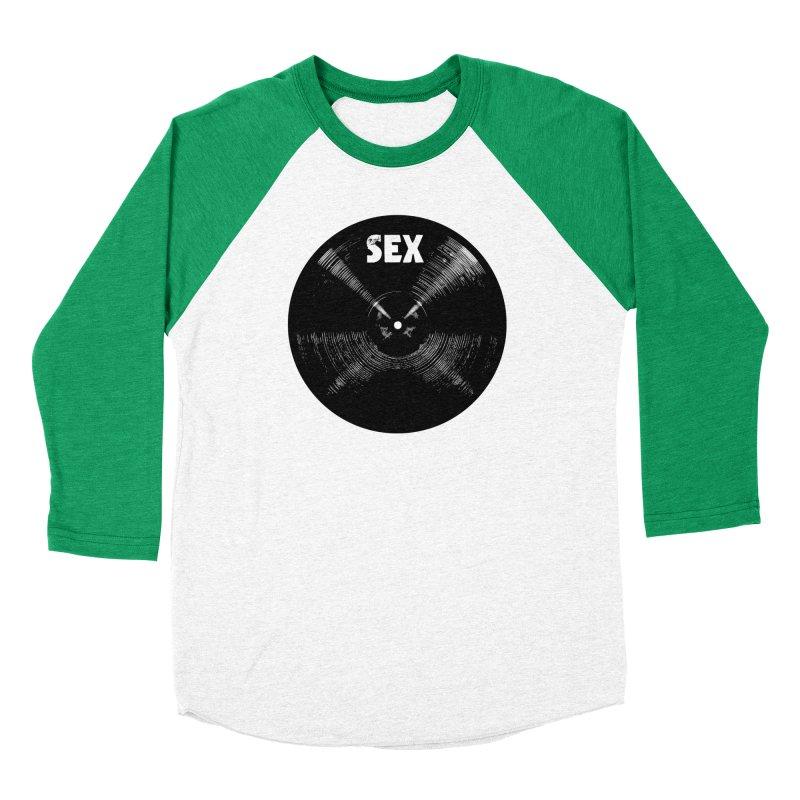 Sex Cymbal (Black) Women's Baseball Triblend Longsleeve T-Shirt by Drum Geek Online Shop