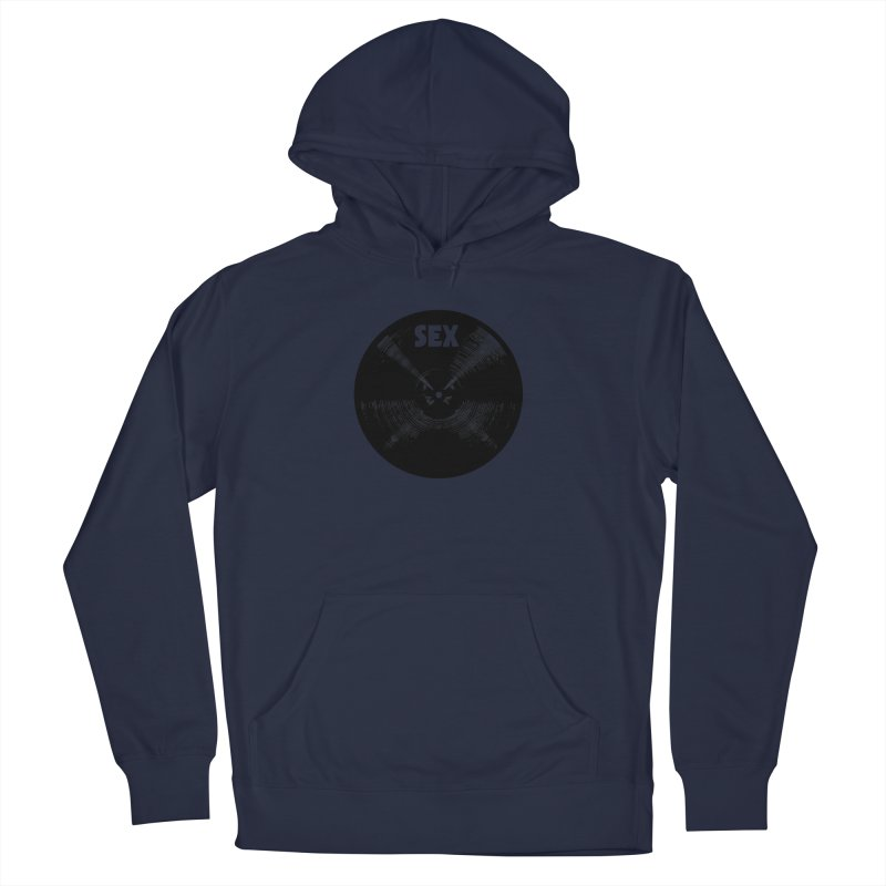 Sex Cymbal - Black Logo Men's Pullover Hoody by Drum Geek Online Shop