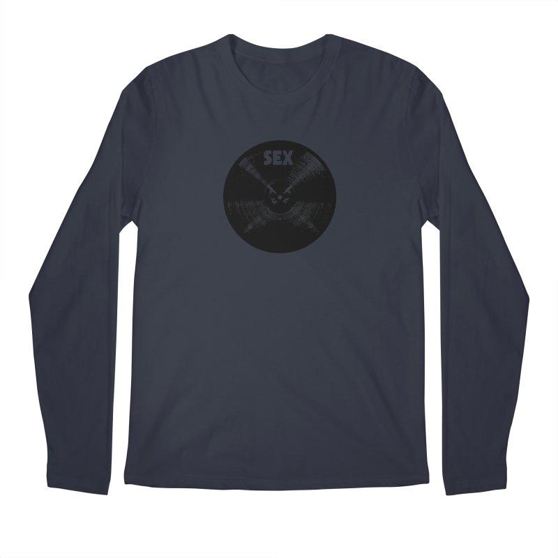 Sex Cymbal - Black Logo Men's Longsleeve T-Shirt by Drum Geek Online Shop