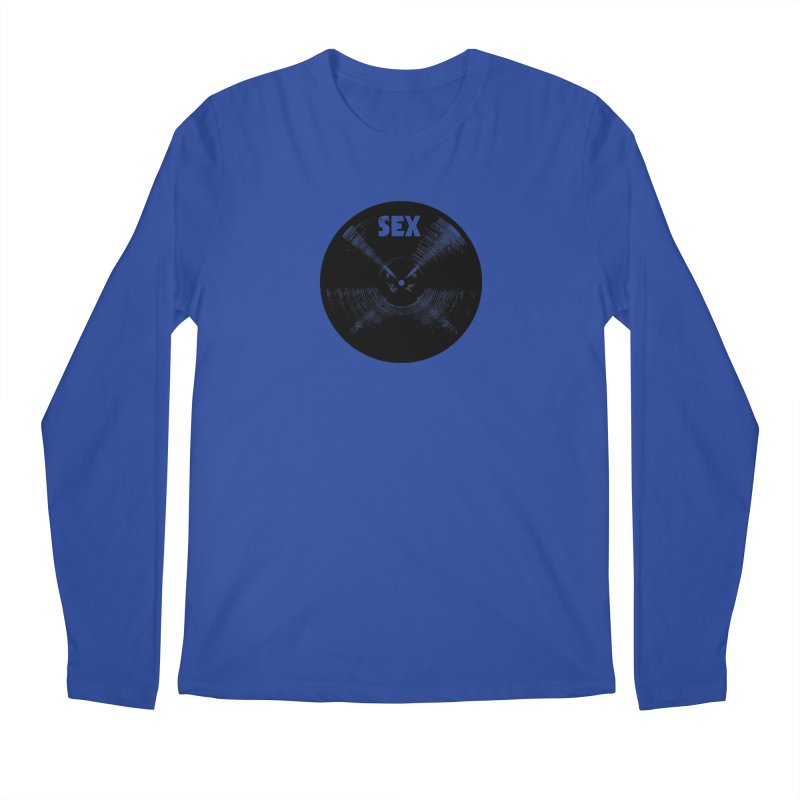 Sex Cymbal - Black Logo Men's Longsleeve T-Shirt by Drum Geek Online Shop
