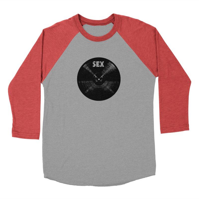 Sex Cymbal - Black Logo Women's Baseball Triblend Longsleeve T-Shirt by Drum Geek Online Shop