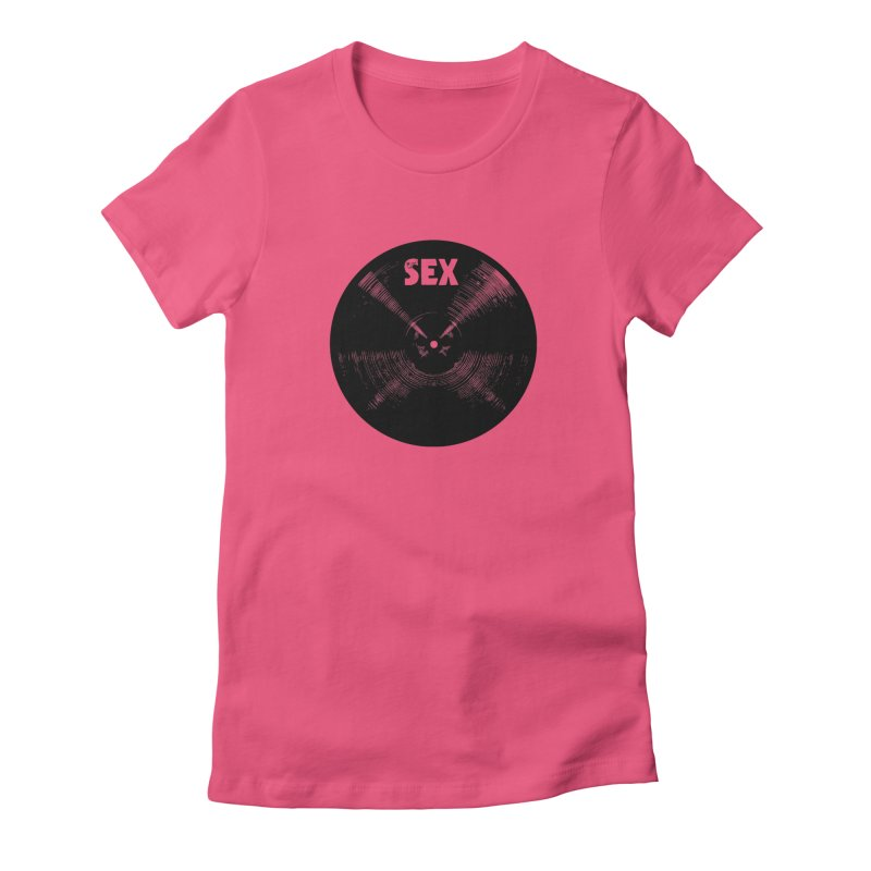 Sex Cymbal - Black Logo Women's T-Shirt by Drum Geek Online Shop