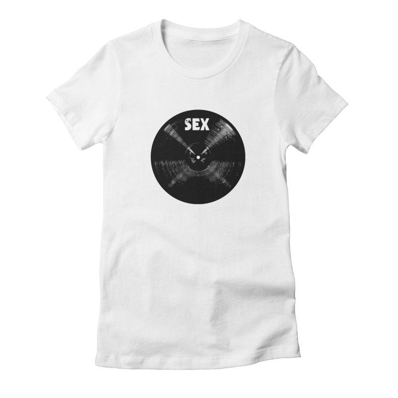 Sex Cymbal - Black Logo Women's T-Shirt by Drum Geek Online Shop